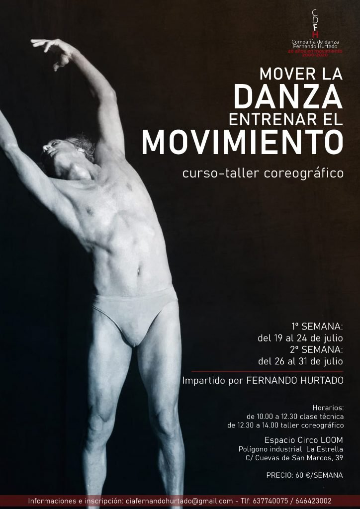 Cartel taller danza Junio 2021